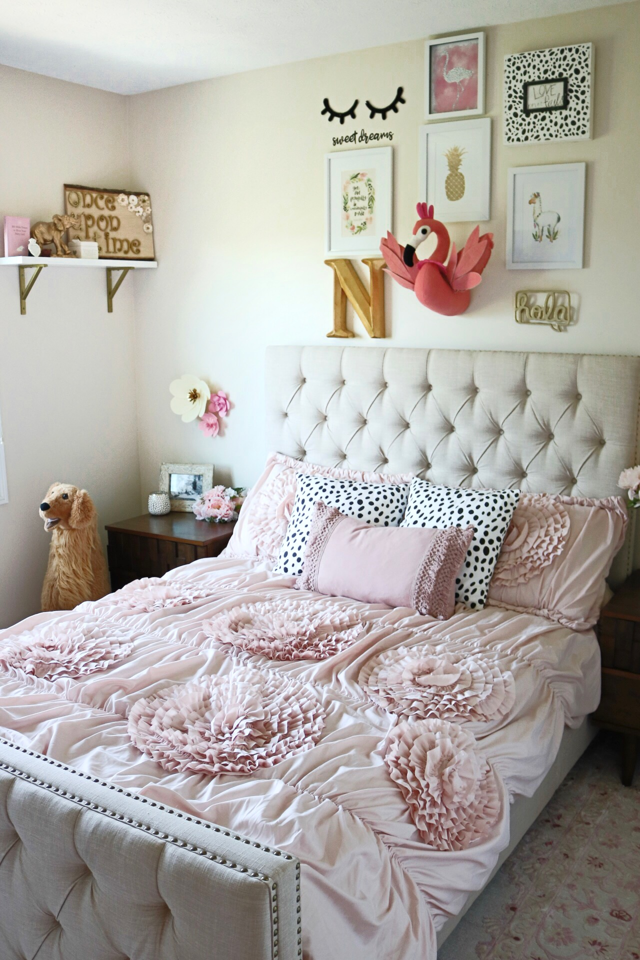 Big Girl Bedroom Makeover with Overstock // Keeping Up