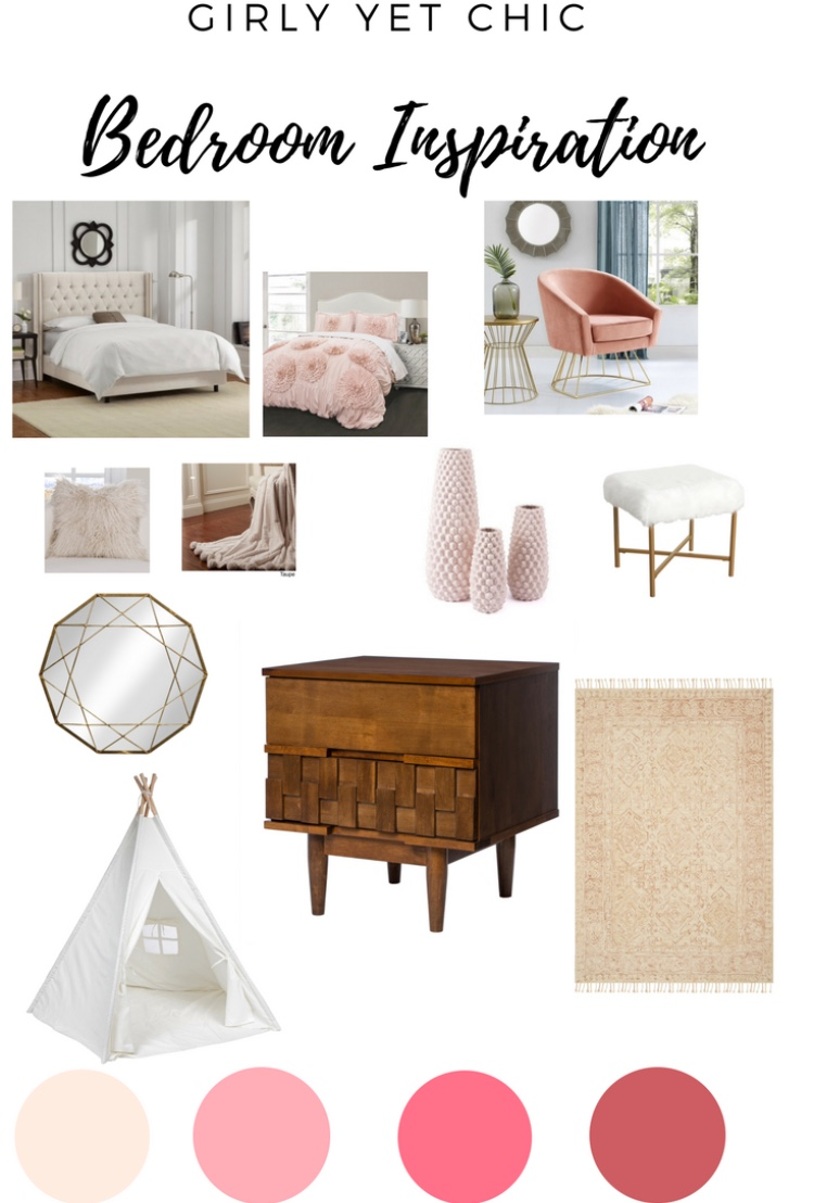 big girl bedroom makeover mood board